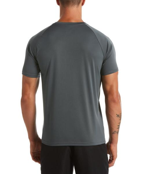 Nike Swim Men's Essential Short Sleeve Hydroguard Rash Guard Iron Grey