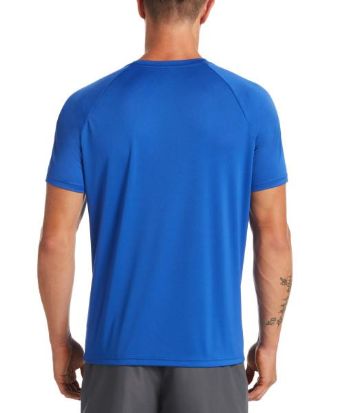 Nike Swim Men's Essential Short Sleeve Hydroguard Rash Guard Game Royal