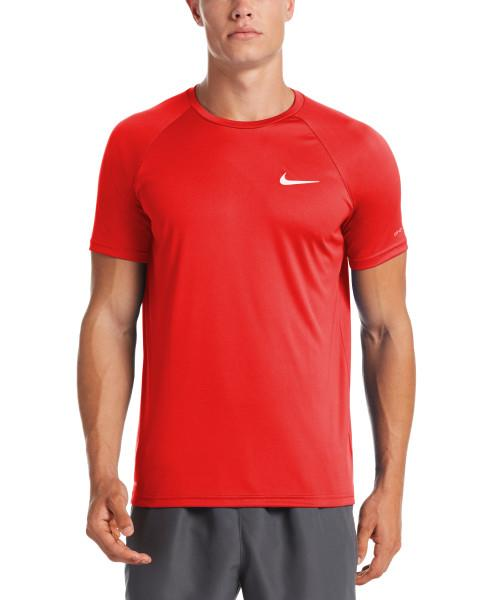 Nike Swim Men's Essential Short Sleeve Hydroguard Rash Guard University Red