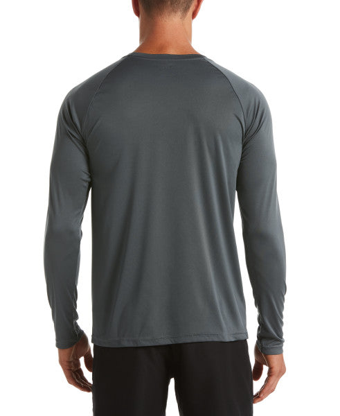 Nike Swim Men's Essential Long Sleeve Hydro Rash Guard Iron Grey