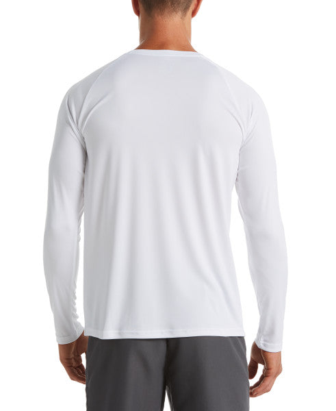 Nike Swim Men's Essential Long Sleeve Hydro Rash Guard White