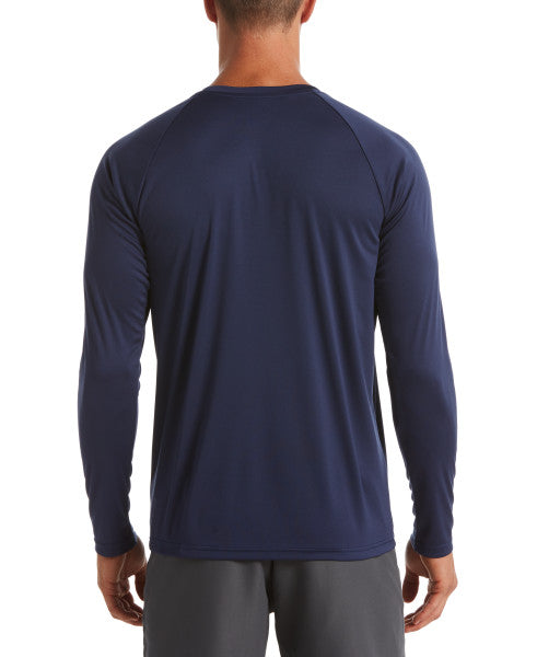 Nike Swim Men's Essential Long Sleeve Hydro Rash Guard Midnight Navy