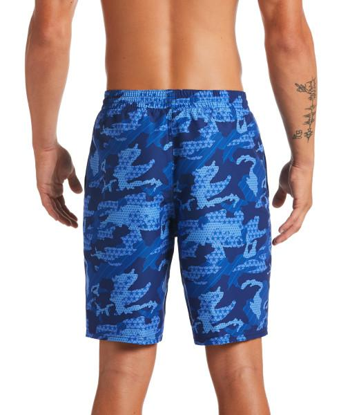 Nike Swim Men's Americana Camo Lap 9-inch Volley Board Shorts Midnight Navy