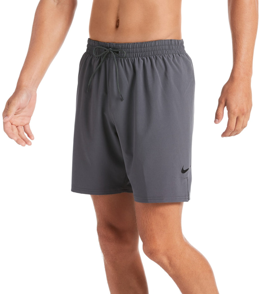 "Nike Swim Men's Plus Size 18"" Essential Vital Volley Short Iron Grey"