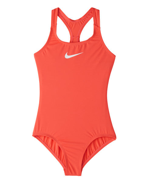 Nike Swim Girls' Essential Racerback One Piece Magic Ember