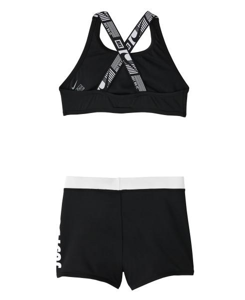 Nike Swim Girls' Jdi Crossback Sport Two Pieces Set Black