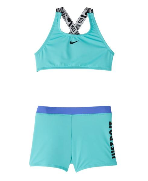 Nike Swim Girls' Jdi Crossback Sport Two Pieces Set Aurora Green