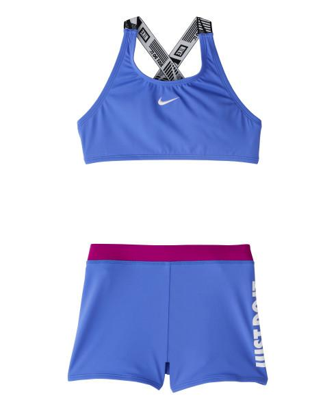Nike Swim Girls' Jdi Crossback Sport Two Pieces Set Sapphire