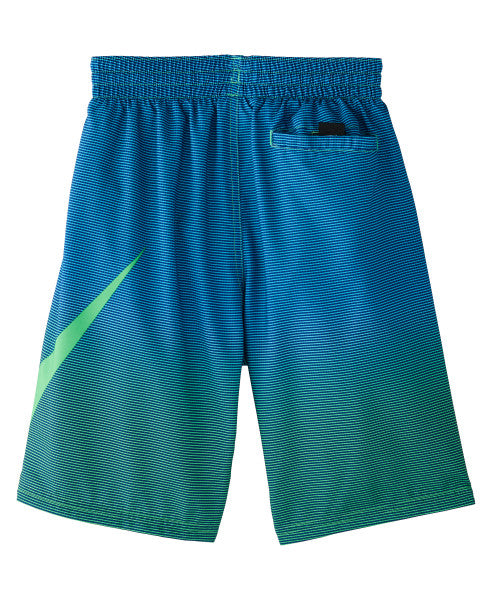 Nike Swim Boys' Color Fade Breaker 8-inch Volley Board Shorts Green Spark