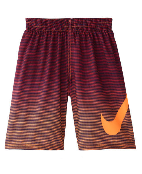 Nike Swim Boys' Color Fade Breaker 8-inch Volley Board Shorts Total Orange