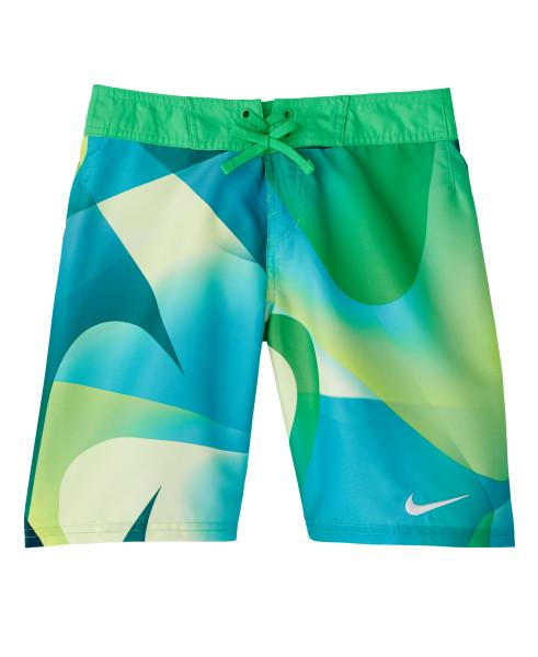 Nike Swim Boys' Spectrum Drift 8-inch Board Shorts Green Spark