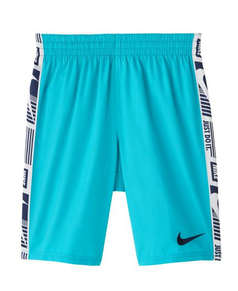 Nike Swim Boys' Funfetti Racer 8-inch Volley Board Shorts Oracle Aqua