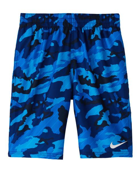Nike Swim Boys' Camo Lap 8-inch Volley Board Shorts Obsidian