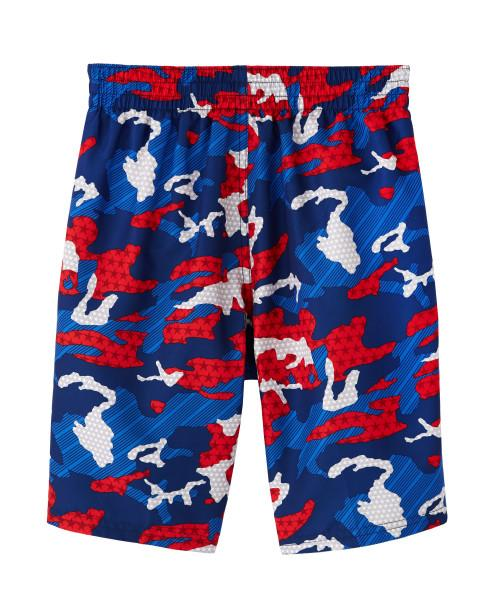 Nike Swim Boys' Americana Camo 8-inch Volley Board Shorts Red Blue