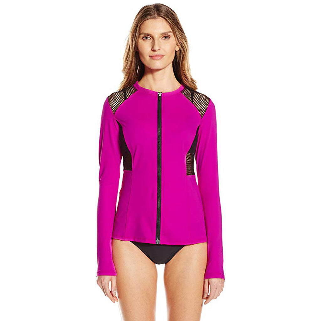 Oakley Sport Mesh Zip Front Jacket Rush Guard Purple