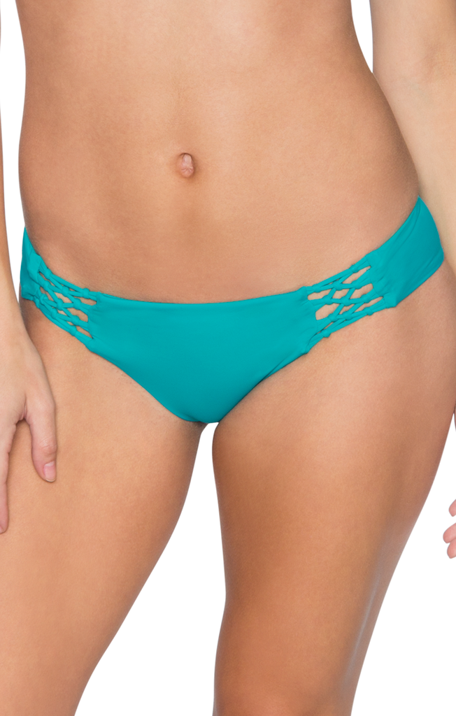 Aerin Rose Women's Teal Rogue Strap Bikini Bottom