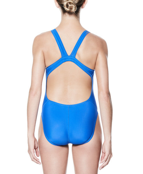 Nike Swim Women's Nylon Solid Fastback One Piece Game Royal