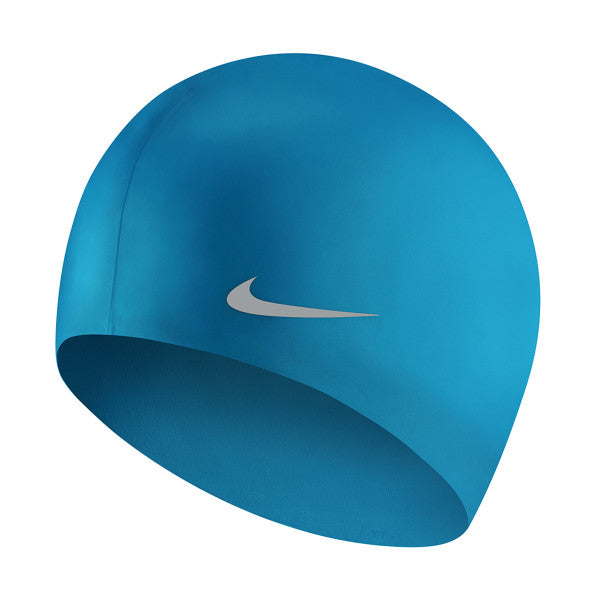 Nike Swim Cap Youth Solid Silicone Blue