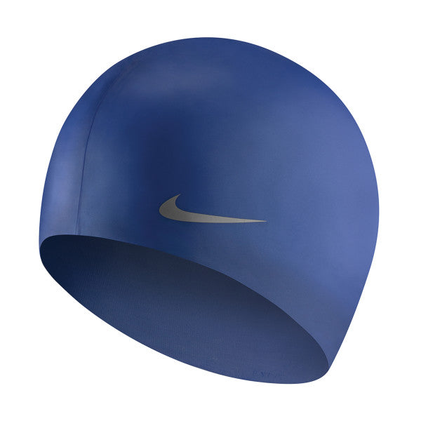 Nike Swim Cap Youth Solid Silicone Mega Blue