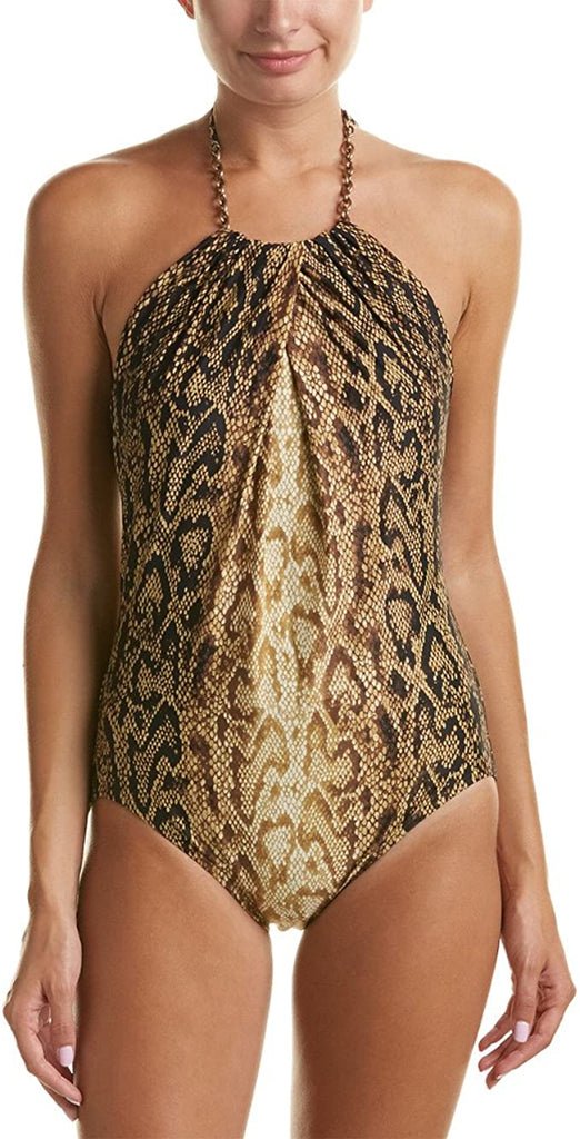 Coco Reef Mahogony High Neck Chain Hardware One Piece