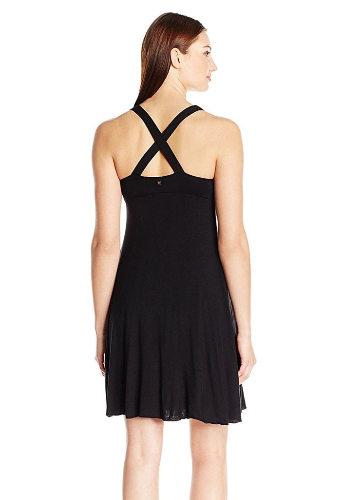 Skye Black Phoebe Halter Dress Cover Up
