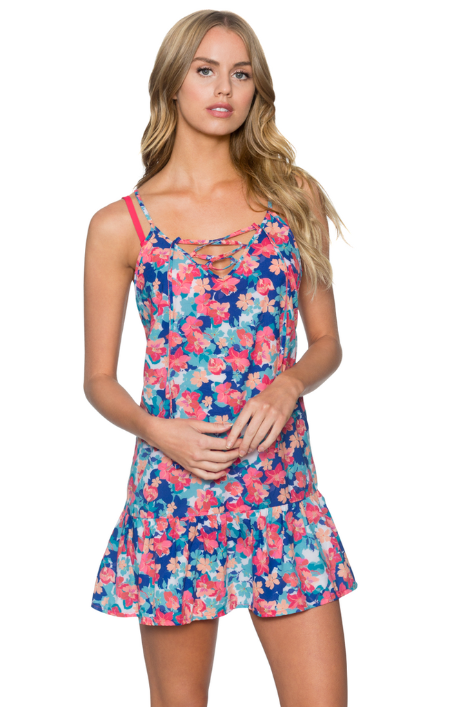 Sunsets Women's Flower Bed Riviera Dress Cover Up