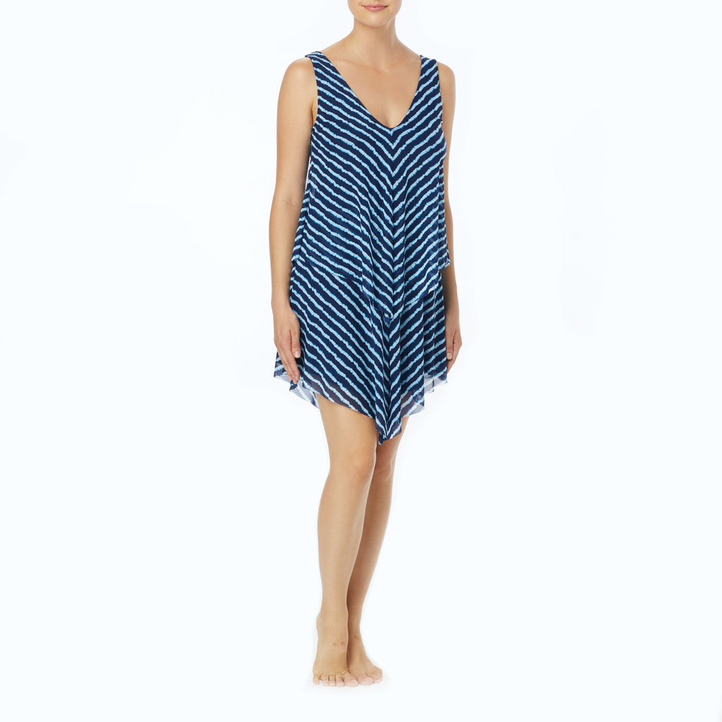 Beach House Capilla Island Tori Ruffled Dress Cover Up Admiral