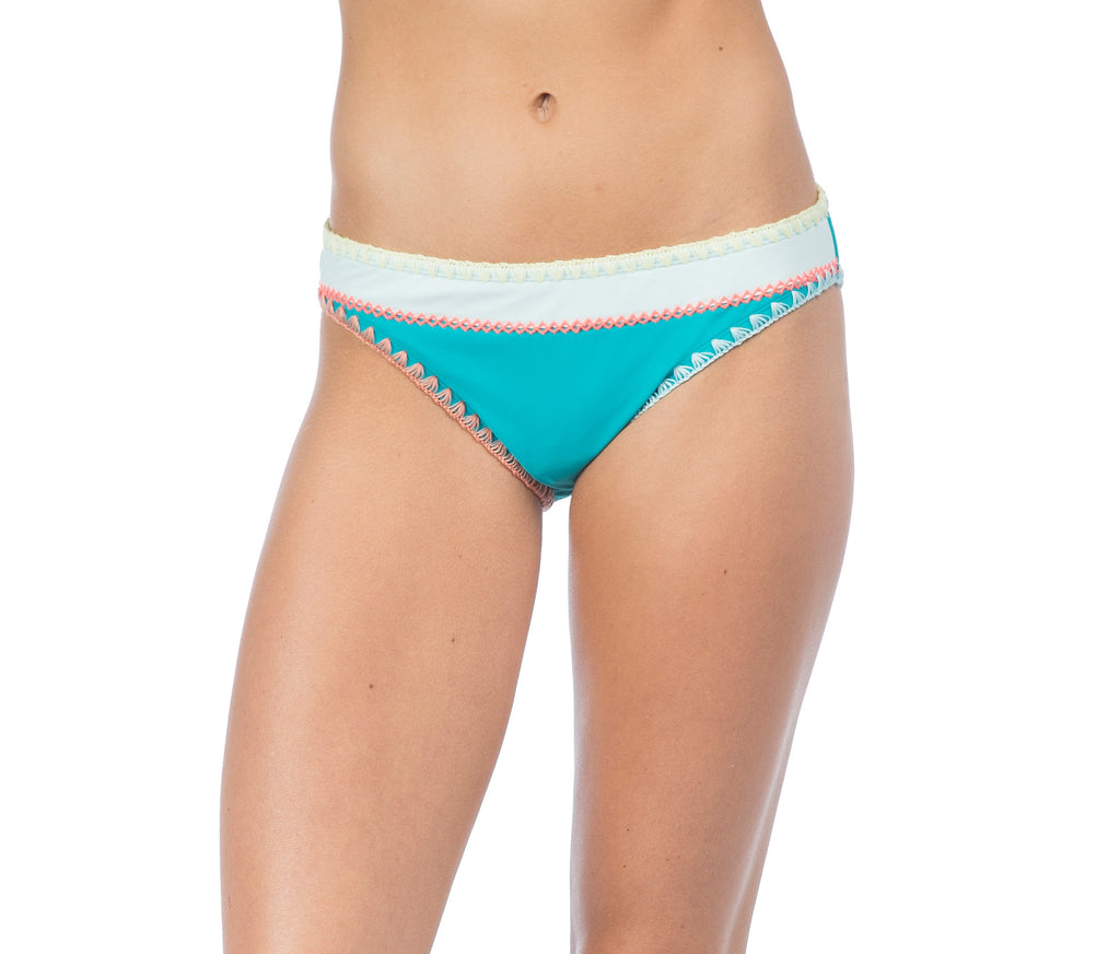 Hobie Women's Seagreen Keep The Piece Hipster Bikini Bottom