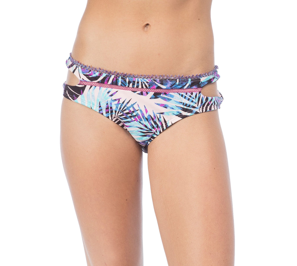 Hobie Women's Take It or Leaf It Cut Out Hipster Bikini Bottom
