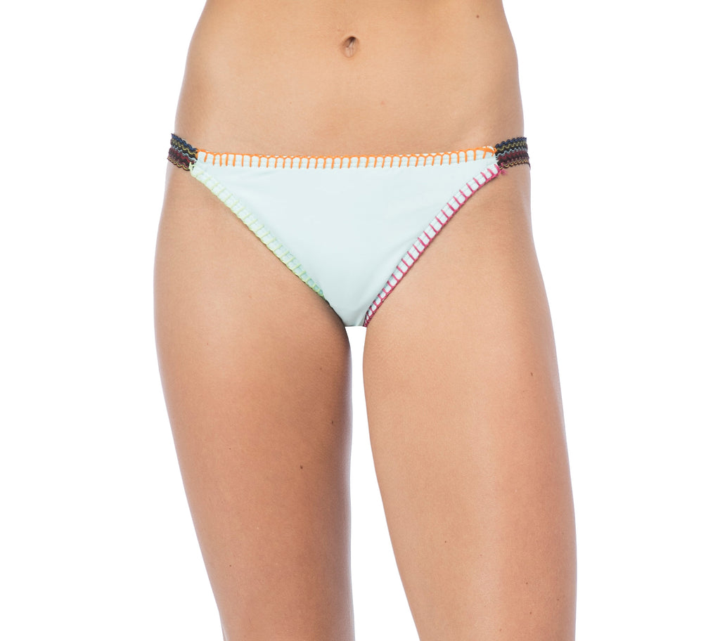 Hobie Women's Crystal Blue Lets Stitch Together Elastic Bikini Bottom