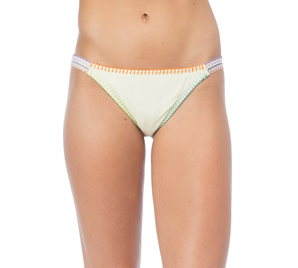Hobie Women's Lemon Fizz Lets Stitch Together Elastic Bikini Bottom