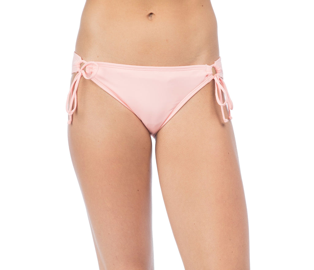 Hobie Women's Apricot Blush Solid Adjustable Hipster Bikini Bottom