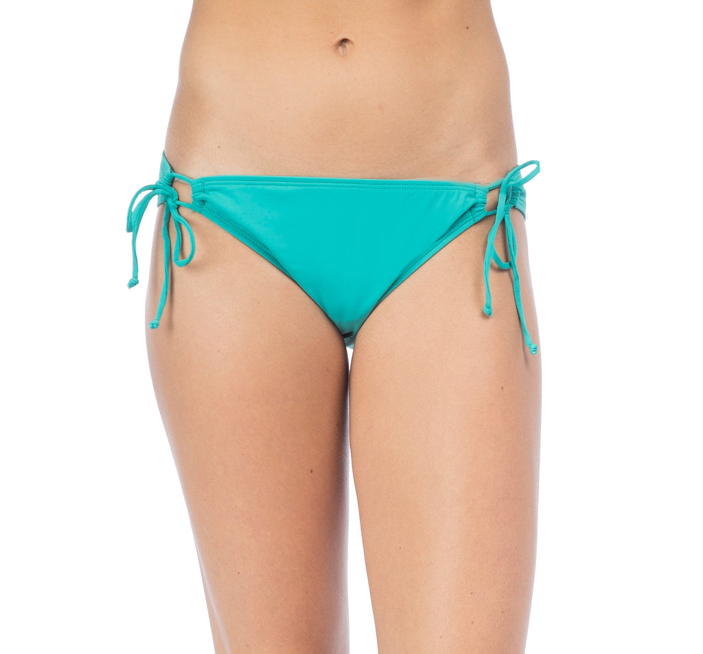 Hobie Women's Seagreen Solid Adjustable Hipster Bikini Bottom