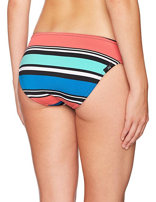 Jag Swim Variegated Stripe Cobalt Blue Retro Bikini Bottom