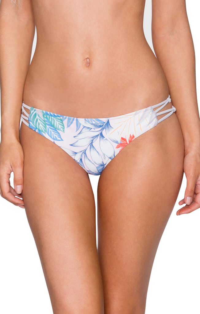 B. Swim Women's Lani Palm Palm Pucker Bikini Bottom