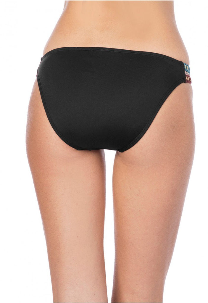 La Blanca Running Stitch Hipster Bikini Bottom Black