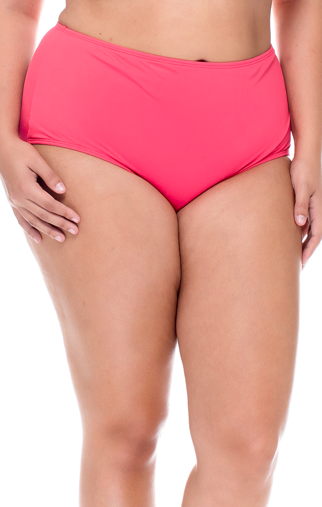 Sunsets Curve Plus Size Lover's Coral The High Road Bikini Bottom