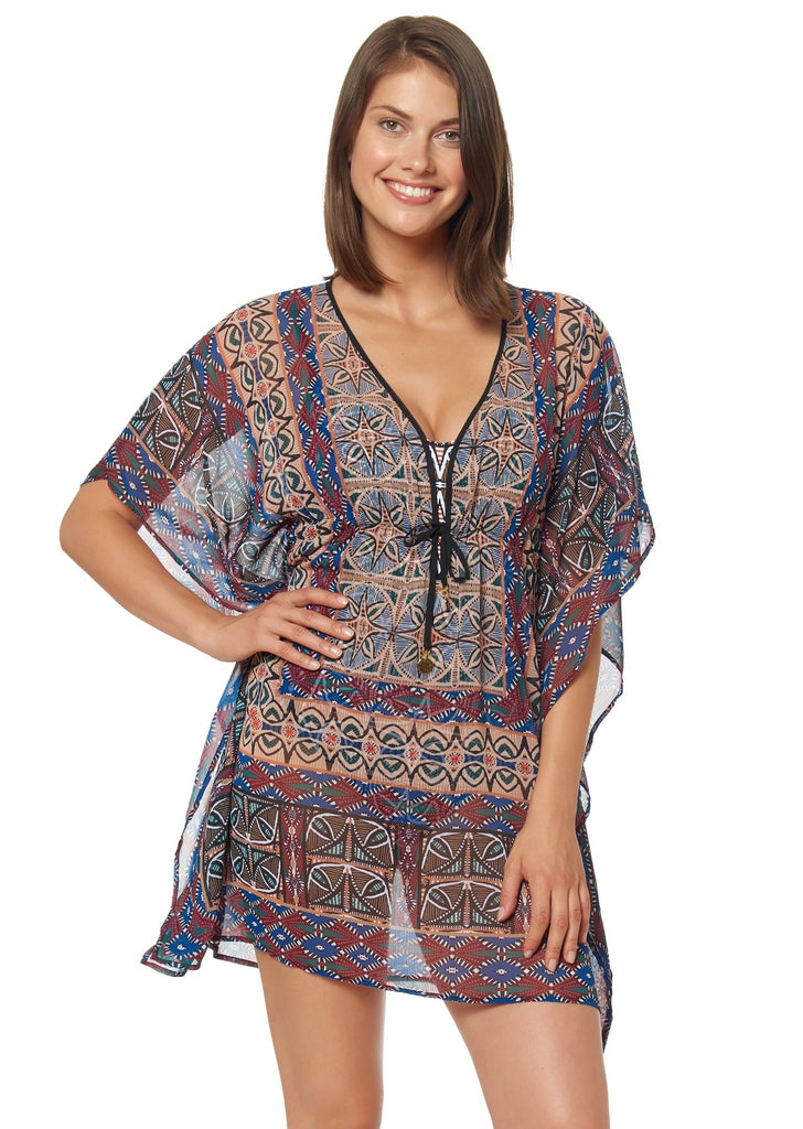 Bleu Rod Beattie Suburban Safari Caftan Cover Up