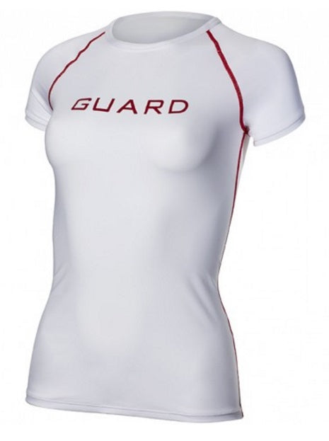 TYR Women's Guard Logo Short Sleeve Rash Guard
