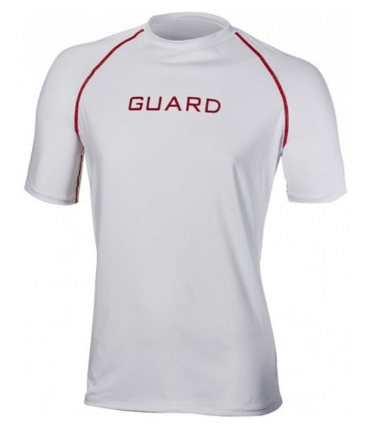 TYR Men's Guard Logo Short Sleeve Rash Guard