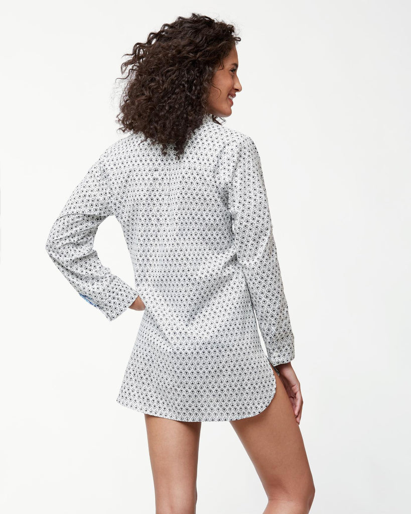 Tommy Bahama Tika Tiles Boyfriend Shirt Cover Up
