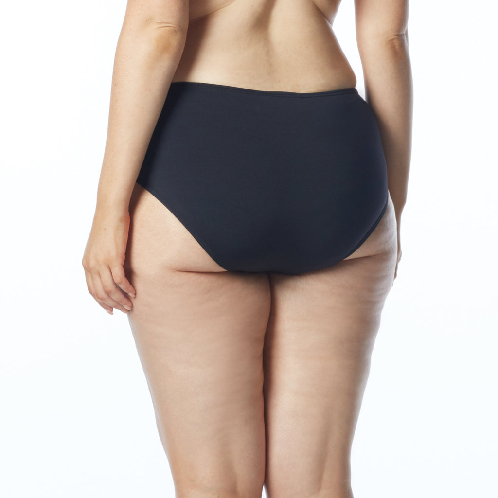Coco Reef Plus Size Solids Cast Black High Waist Bikini Bottom