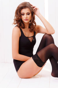 Microfiber Thigh Highs 40 Den - Black