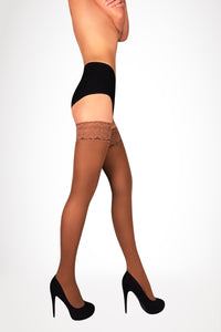 Opaque Thigh Highs 100 Den - Beige