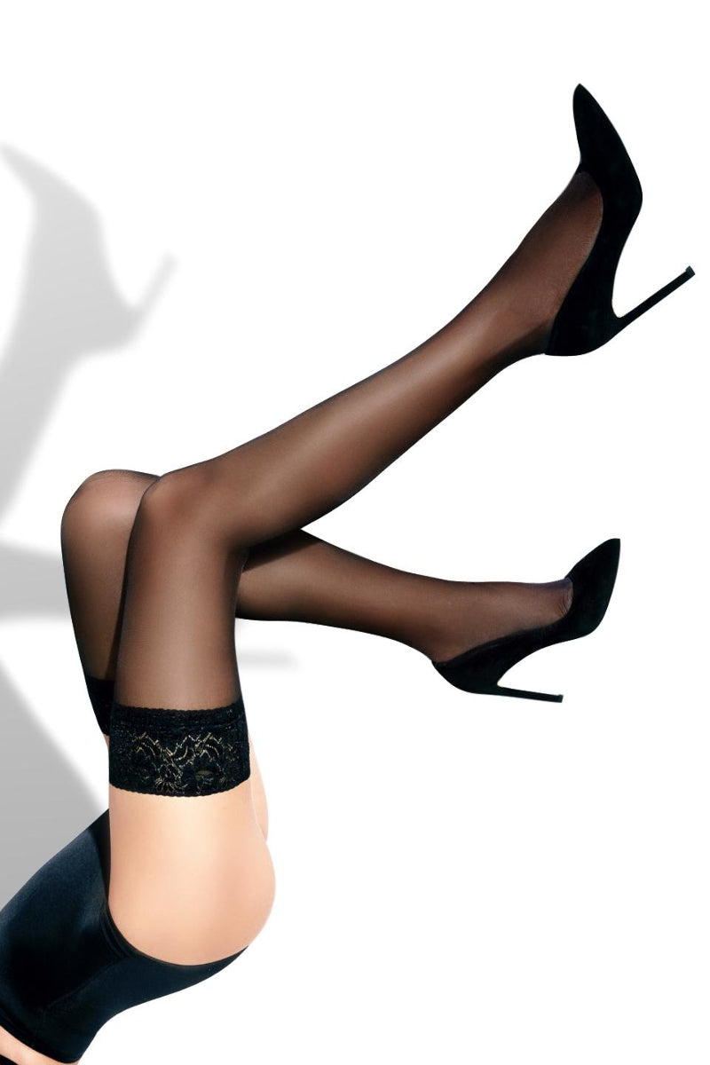 Sheer Thigh High Stockings - Black