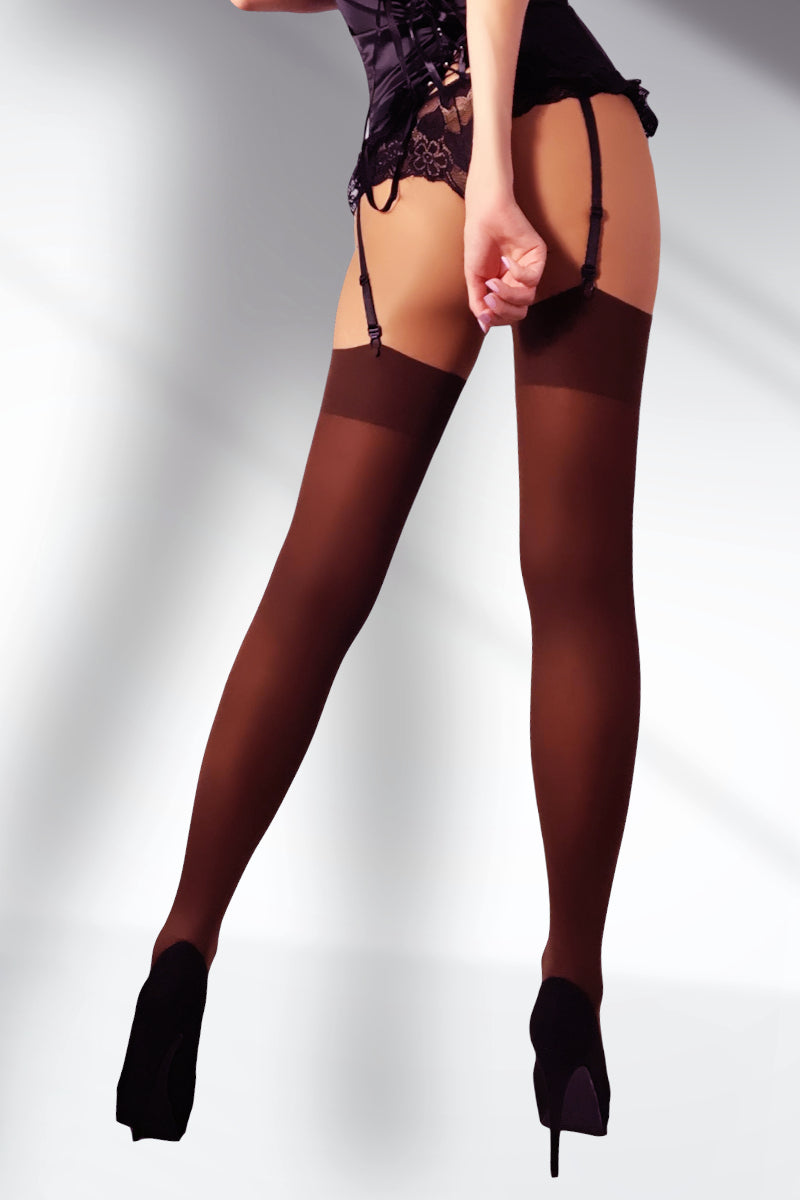 Opaque Stockings 100 Denier - Brown