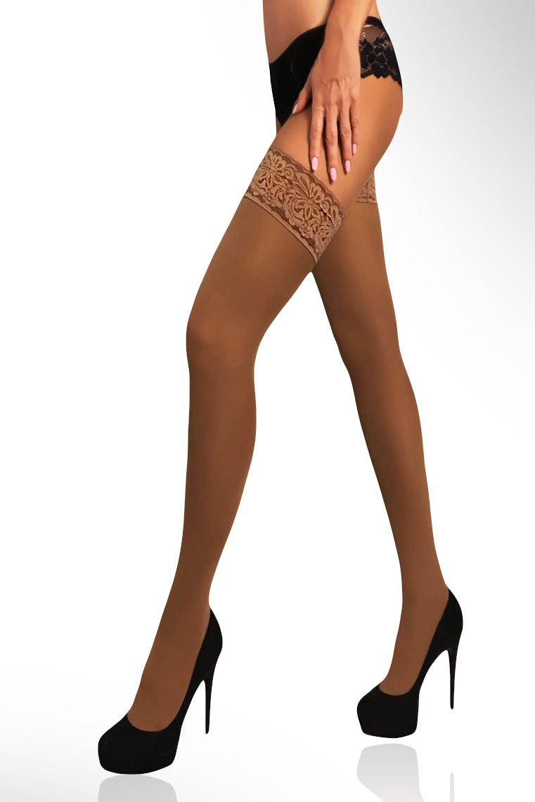 Microfiber Thigh Highs 40 Den - Bronze