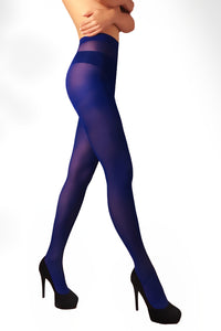 Microfiber Tights 40 Den - Indigo Blue