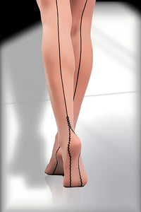 Seamed Stockings 20 Den - Sand