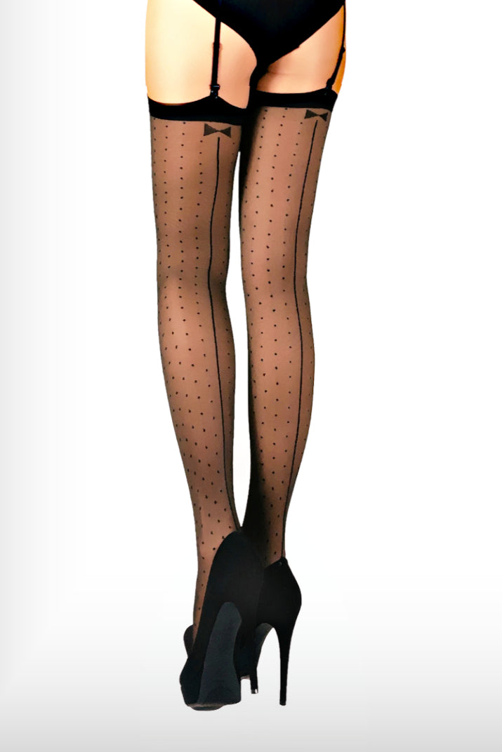 Polka Dot Stockings 20 Den - Black